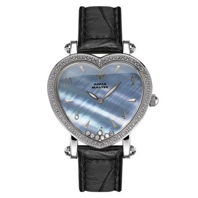 Aqua Master Watches Heart Shape Floating Diamond Watch