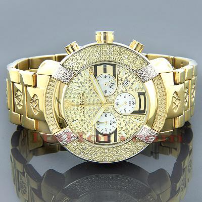 Aqua Master Watches Mens Diamond Watch Yellow