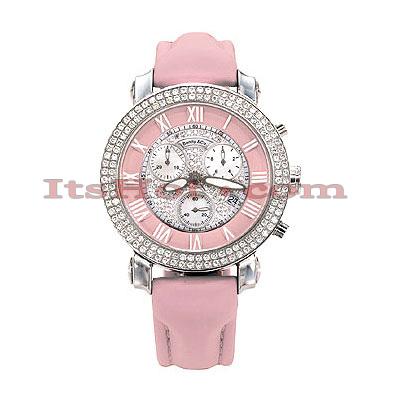 Benny Co Womens Diamond Watch 1.9ct Pink