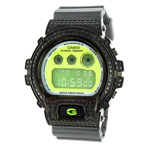 Casio Black G-Shock Watch DW6900 CZ Crystals