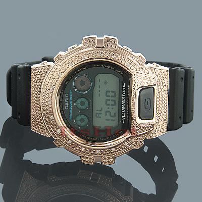 Casio G-Shock Diamond Watch 0.15ct Rose. DW-6900