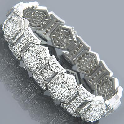 Celebrity Diamond Bracelets 14K Designer Bracelet 17.40
