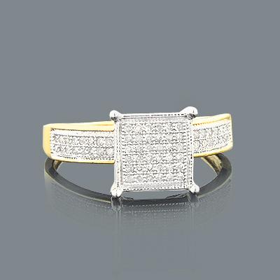 Cheap Diamond Engagement Ring 0.30ct 10K Gold