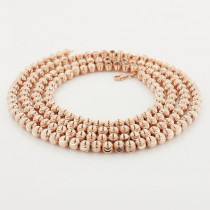 10K Rose Gold Moon Cut Chain 6mm 22-40in