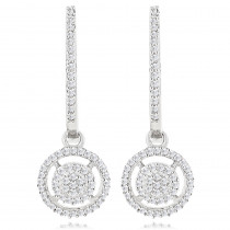 14K Diamond Circle Earrings 0.38ct