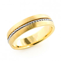 14K Gold Braided Wedding Band for Men