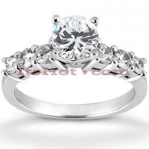 14K Gold Designer Diamond Engagement Ring 0.94ct