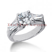 14K Gold Designer Diamond Engagement Ring 2.06ct