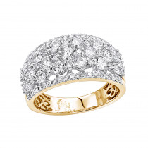 14K Gold Designer Diamond Wedding Band for Women 2 Carat Luxurman Ring