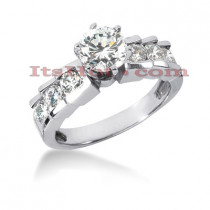 14K Gold Diamond Designer Engagement Ring 0.80ct