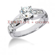 14K Gold Diamond Designer Engagement Ring 1.56ct