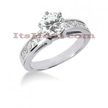 14K Gold Diamond Engagement Ring Mounting 0.50ct
