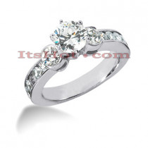 14K Gold Diamond Engagement Ring Mounting 0.90ct