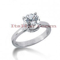 14K Gold Four-Prong Solitaire Engagement Ring 1.74ct