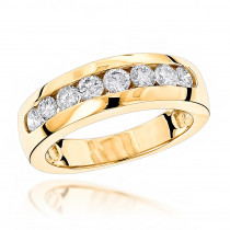 14K Gold Men's Diamond Wedding Ring 0.56ct