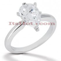 14K Gold Six-Prong Solitaire Engagement Ring 0.75ct