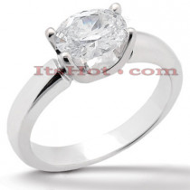 14K Gold Solitaire Engagement Ring 1.25ct