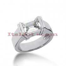 14K Gold Solitaire Engagement Ring 1.50ct