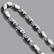 14K Mens Diamond Chain Necklace 14.37ct
