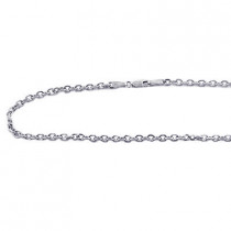 14K White Gold Cable Chain 20in-40in long 3mm wide