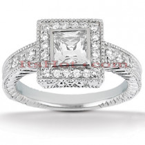 18K Gold Diamond Engagement Ring 1.04ct