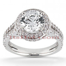18K Gold Diamond Engagement Ring 1.42ct