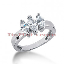 Thin 18K Gold Diamond Engagement Ring Mounting 0.74ct