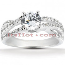 18K Gold Diamond Engagement Ring Setting 0.40ct
