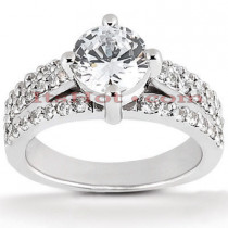 18K Gold Diamond Engagement Ring Setting 0.48ct