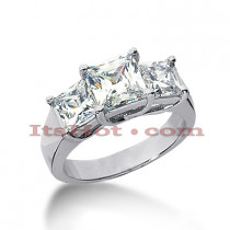 Thin 18K Gold Diamond Engagement Ring Setting 1ct