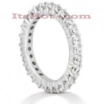 Thin 18K Gold Diamond Eternity Band 1.35ct