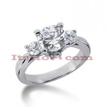 18K Gold Diamond Three Stones Engagement Ring 2.60ct