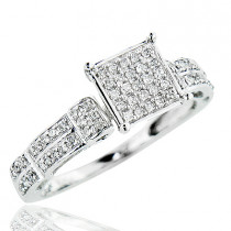 Affordable Diamond Engagement Ring 0.63ct 10K Gold