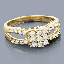 Affordable Diamond Engagement Ring 0.83ct 14K