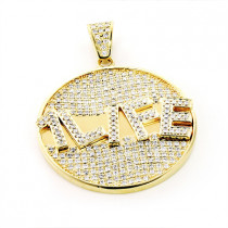 Custom Jewelry Made: Yellow Gold Diamond Pendant 5.90ct 10K