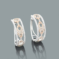 Cutout Diamond Hoop Earrings 0.83ct 14K Gold