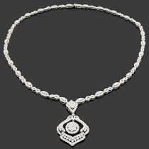 Designer Diamond Necklaces: Luccello Jewelry Piece 11.14ct 18K