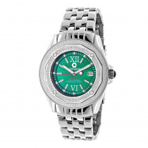 Designer Diamond Watch: Midsize Centorum Falcon 0.50ct Emerald Face