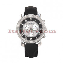 Diamond Benny Co Watch Ice Dial Watch 2.9ct Mens Black