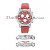 Diamond Benny Co Watch Mens 5 ct. Red
