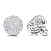 Diamond Circle Earrings 0.22ct Sterling Silver
