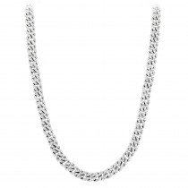 Diamond Cuban Link Chain in Platinum 10.25ct Iced Out Luccello Jewelry