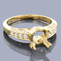 Diamond Engagement Ring Setting 0.44ct 14K Gold