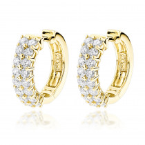 Diamond Hoop Earrings 14K 1.73ct