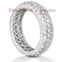 Diamond Platinum Eternity Ring 1.57ct