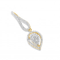 Diamond Teardrop Pendant 14K 0.21ct