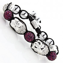 Disco Ball Jewelry: Buddha Face Bracelet with Crystals