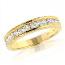Thin Elegant Diamond Wedding Bands for Women 14K 0.59ct
