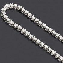 Eternity Diamond Necklace Chain 14K 25.03ct