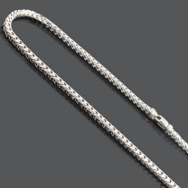 "Franco Chain Necklace 3.5mm 30"" Mens Sterling Silver Chain"